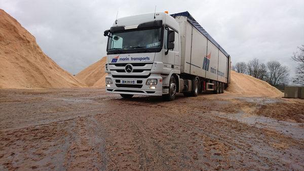Transport routier pour les scieries